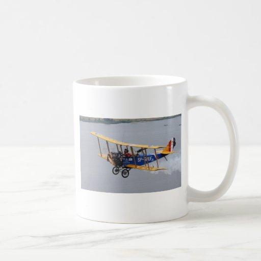 Plane Flying over Water Mug