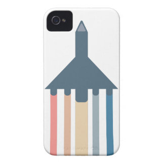 Plane flying with colored trails iPhone 4 Case-Mate cases