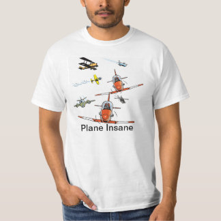 Plane Insane Cartoon Aviation Humor Shirt