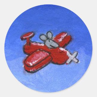 Plane Mouse Sticker