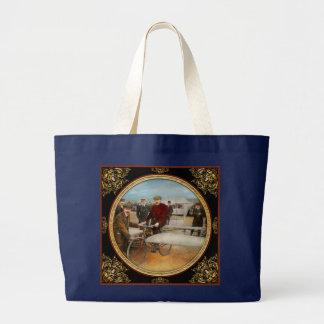 Plane - Odd - Easy as riding a bike 1912 Large Tote Bag