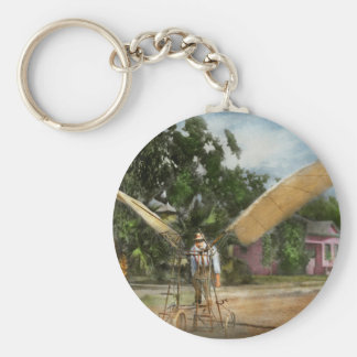 Plane - Odd - The early bird 1910 Basic Round Button Key Ring