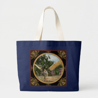 Plane - Odd - The early bird 1910 Large Tote Bag