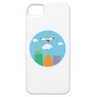 Plane Over City iPhone 5/5S Case