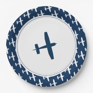 Plane pattern ı Baby Party Paper Plates