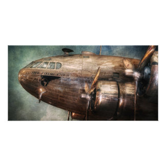 Plane - Pilot - The flying cloud Photo Card Template