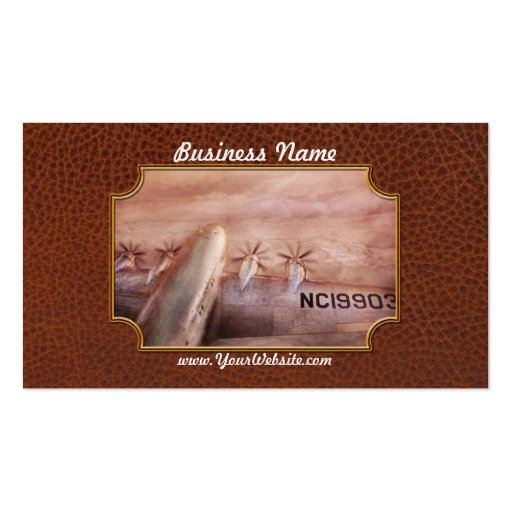 Plane - Pilot - Tropical getaway Business Cards