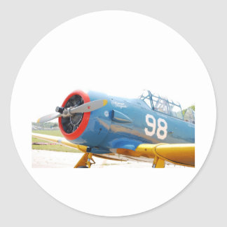 Plane Round Sticker