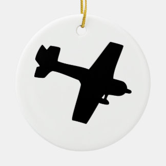 Plane Silhouette Ceramic Ornament