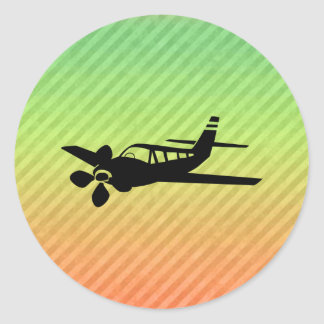 Plane silhouette stickers