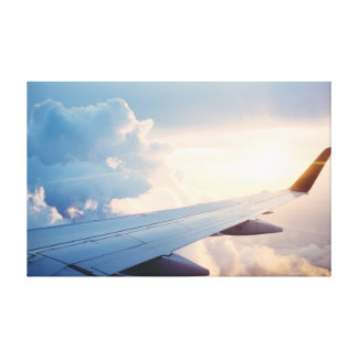 Plane | Sky | Clouds Canvas Print