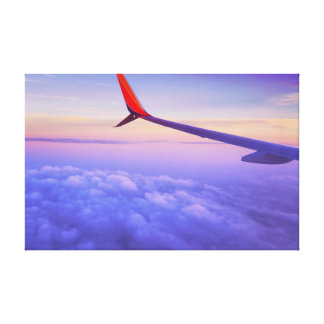 Plane | Sky | Clouds Canvas Print