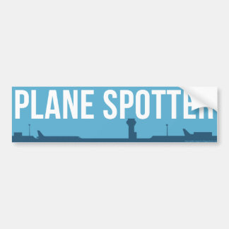 Plane Spotting Spotter Blue Bumper Sticker