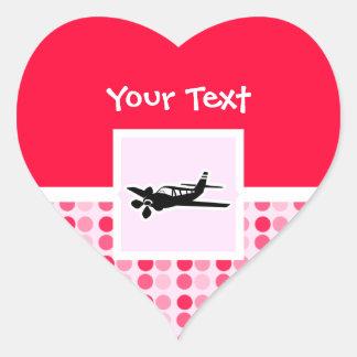 Plane Heart Sticker