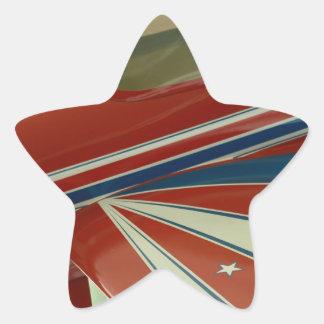 Plane Star Sticker