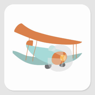 Plane Square Stickers