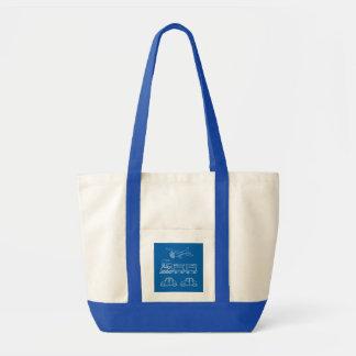 Plane, Train and Car Design ~ editable background Impulse Tote Bag