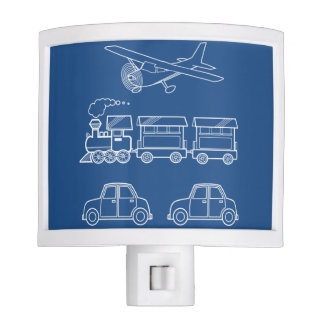 Plane, Train and Car Design ~ editable background Night Lights
