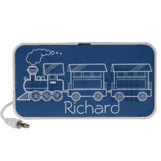Plane, Train and Car Design ~ editable background Laptop Speakers