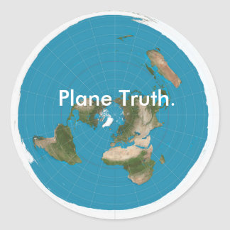 """Plane Truth."" Classic Round Glossy Sticker"