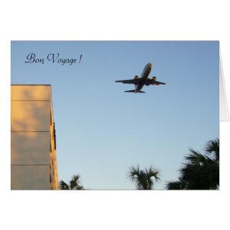 plane voyages greeting card