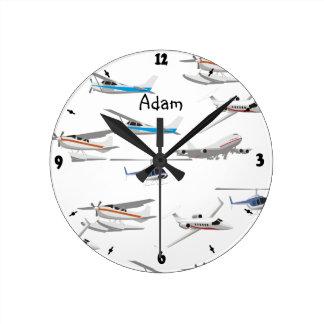 Planes airplanes round clock