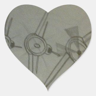 Planes in flight heart sticker
