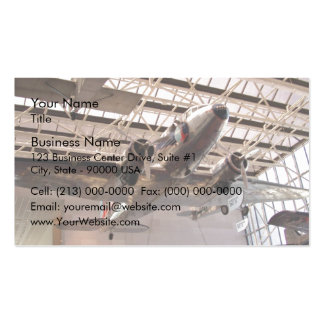 Planes in show business card templates