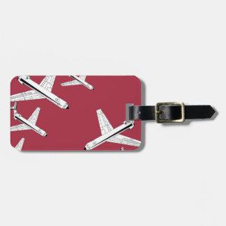 planes luggage tag