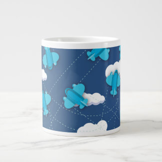 planes 20 oz large ceramic coffee mug
