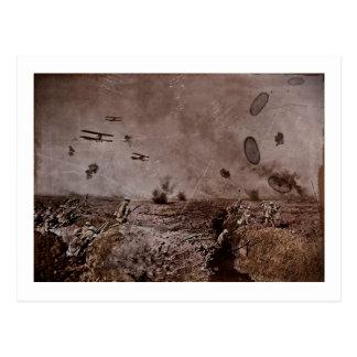 Planes Near Polygon Wood WWI Postcard