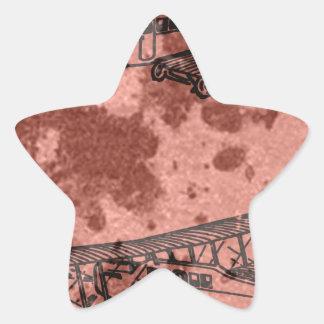 planes star sticker