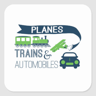 Planes Trains and Automobiles Sticker