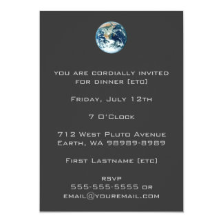 Planet Earth 13 Cm X 18 Cm Invitation Card