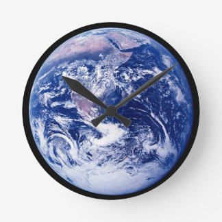 Planet Earth Amazing Space Picture Round Clock