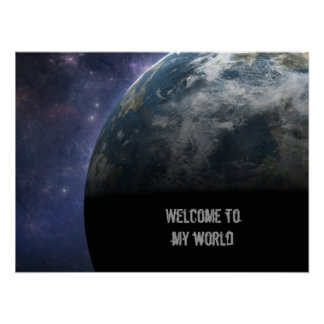 Planet Earth and Outer Space Fantasy Art Print