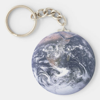 Planet Earth Basic Round Button Key Ring