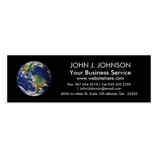 Planet Earth Pack Of Skinny Business Cards