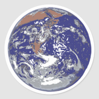 Planet Earth Classic Round Sticker