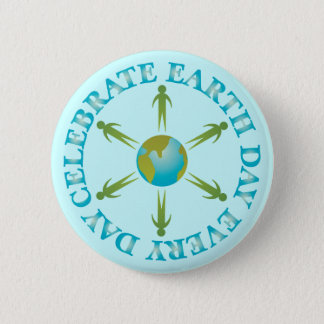 Planet Earth Day T-shirt Gift 6 Cm Round Badge