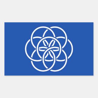 Planet earth flag rectangular sticker