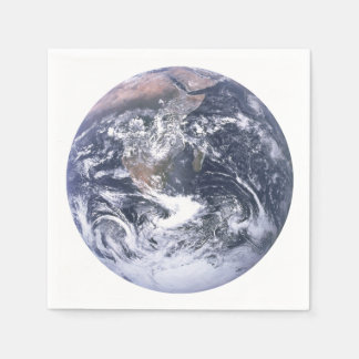 Planet Earth From Space Earth Day Paper Napkins Disposable Serviette