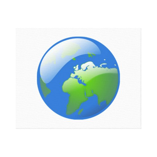 Planet Earth Globe Stretched Canvas Prints