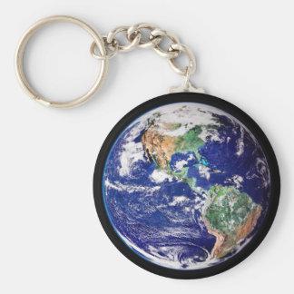 Planet Earth Key Chain. Key Ring