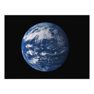 Planet Earth Looking At The Pacific Ocean Photo Print