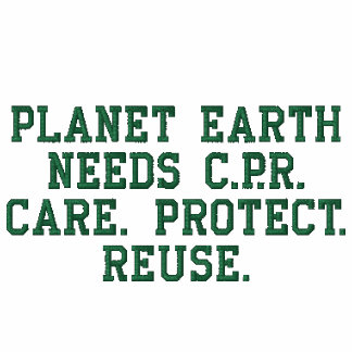 Planet Earth Needs C.P.R. Women Embroidered Shirt