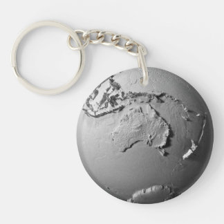 Planet Earth On White Background - Australia, 3d Key Ring