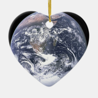 Planet Earth - Our World Ceramic Heart Decoration