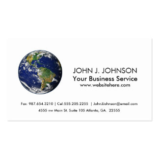 Planet Earth Pack Of Standard Business Cards