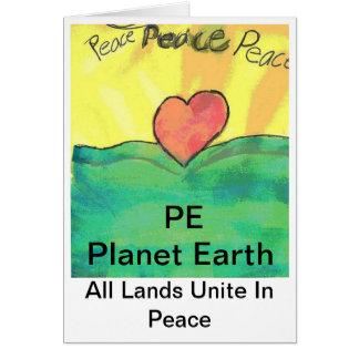 Planet Earth Peace Card